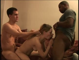 Wife fucked in a interracial threesome